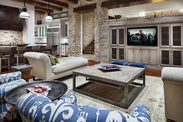 Shabby Chic Furniture, Rustic Wood, Brick Stone Wall Design, Modern Interior  Design And