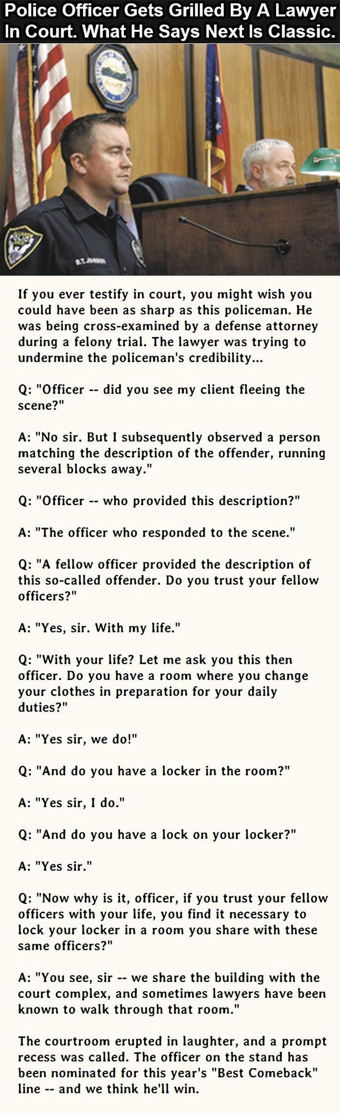 Police Officer Vs Lawyer