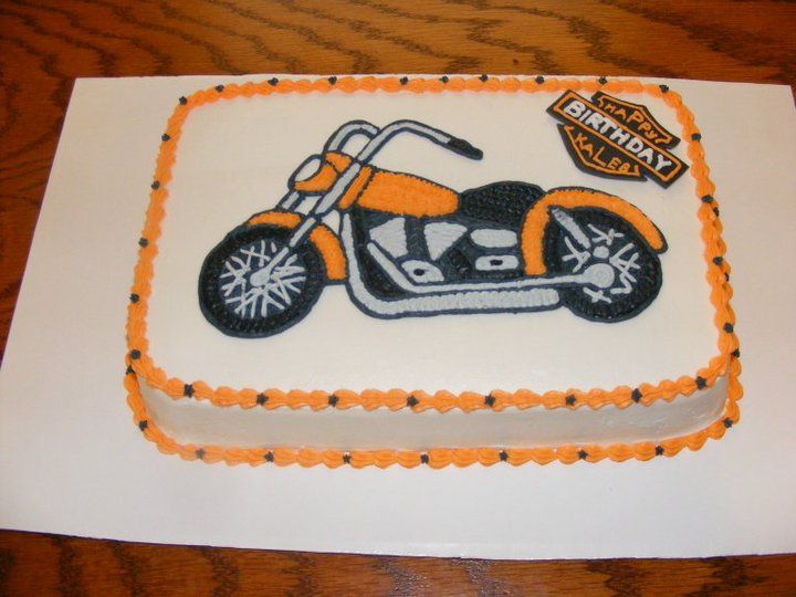 Harley Motorcycle Cake With Images Motorcycle Cake Happy
