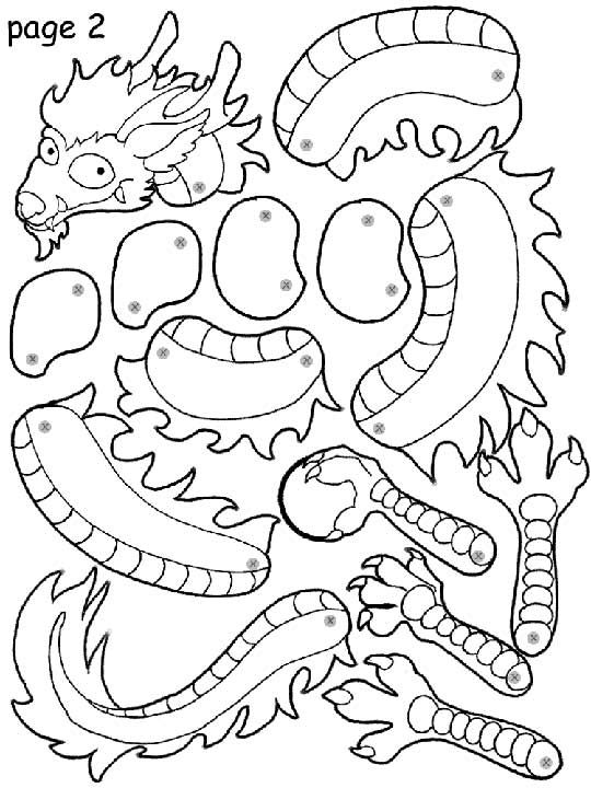 Printable Paper Dragons For Kids Paper Crafts Scrapbooking