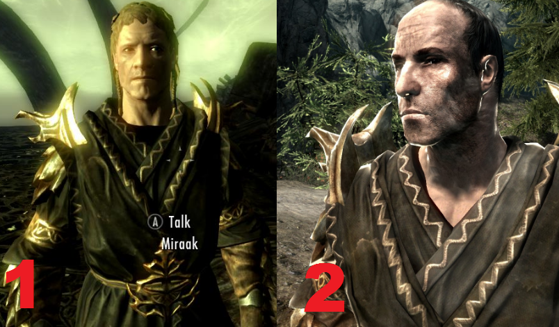 Miraak Has 2 Random Face Models Which One Do You Think Suits Him The Best Canon Wise Games Skyrim Elderscrolls Be3 Gaming Vide Skyrim Elder Scrolls Face