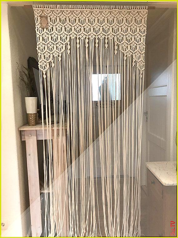Makramee Vorhang Raumteiler Wandbehang Hochzeitszer