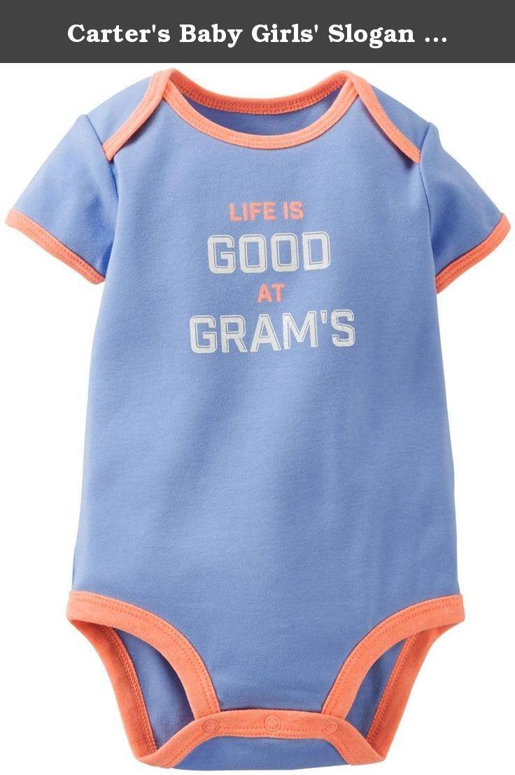 Carter S Baby Girls Slogan Bodysuit Baby Blue 6 Months Super