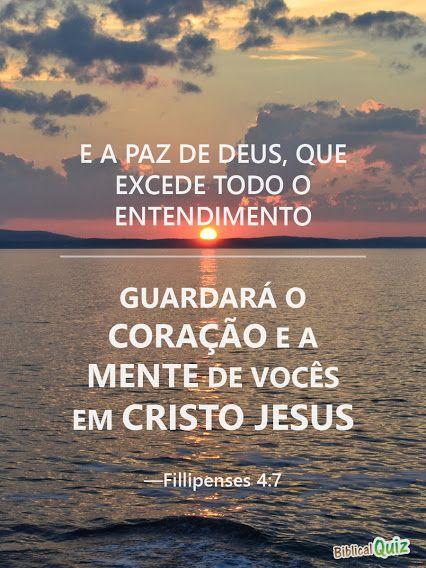 E A Paz De Deus Que Excede Todo O Entendimento Guardara O