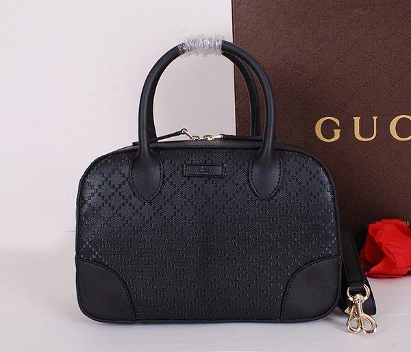 3222320dc25 Bright Diamante Leather Top Handle Bag 354224 Black