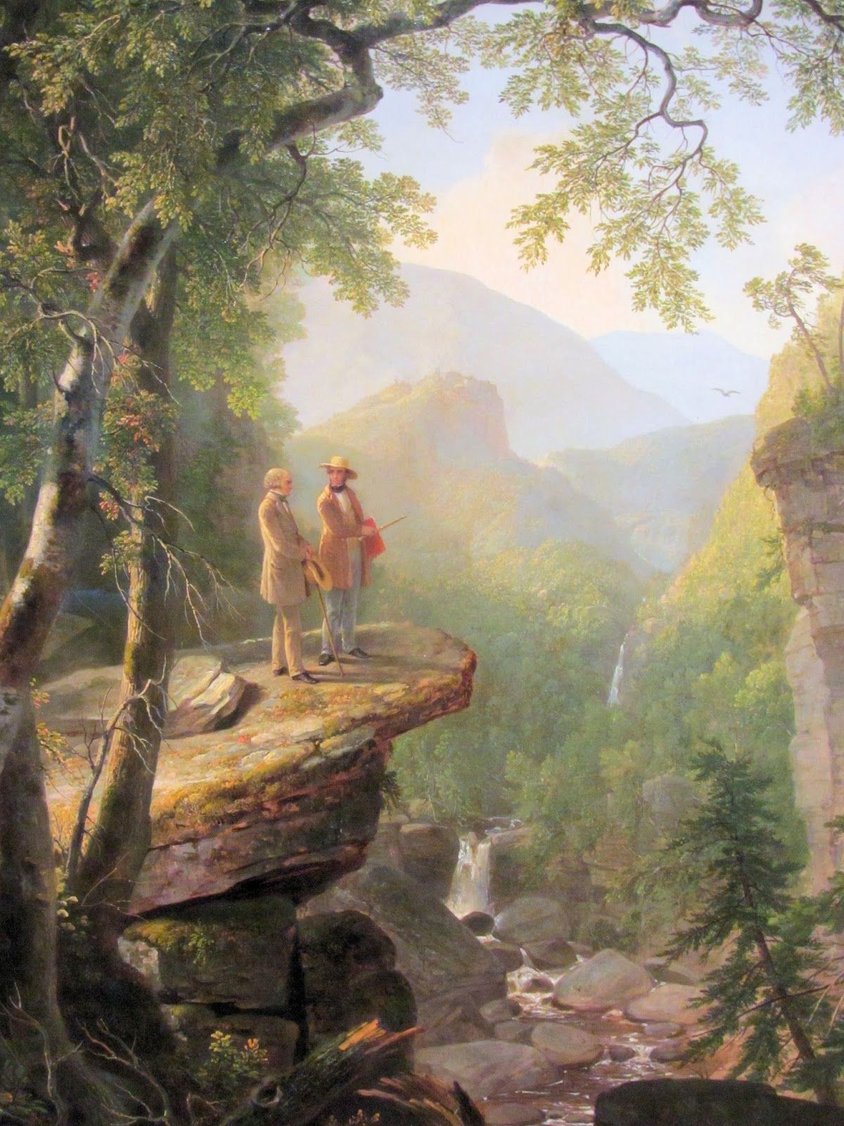 Durand Kindred Spirits Painting Large Canvas Art Print