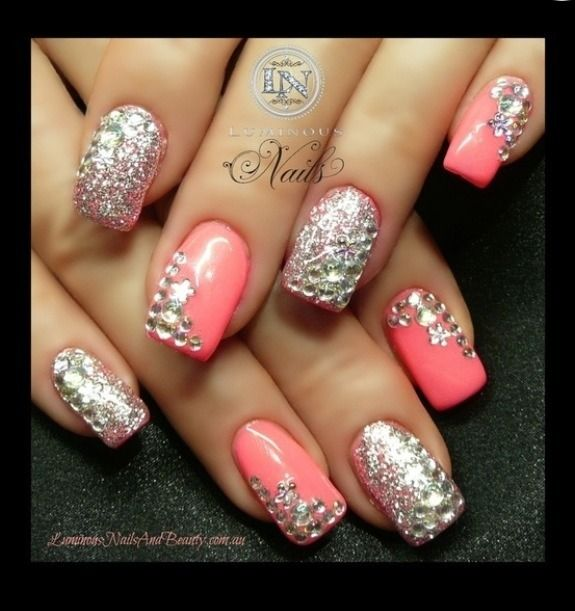 Blinged Out Nails Amys Board Pinterest Ashley Walters Makeup