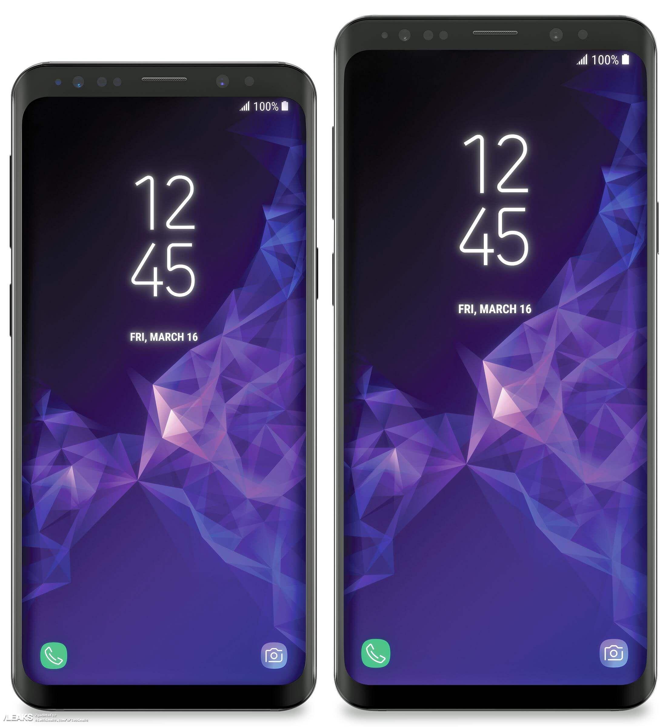 Samsung Galaxy S9 Und Galaxy S9 Zeigen Sich Auf Pressebild Samsung 3d Camera Smartphone