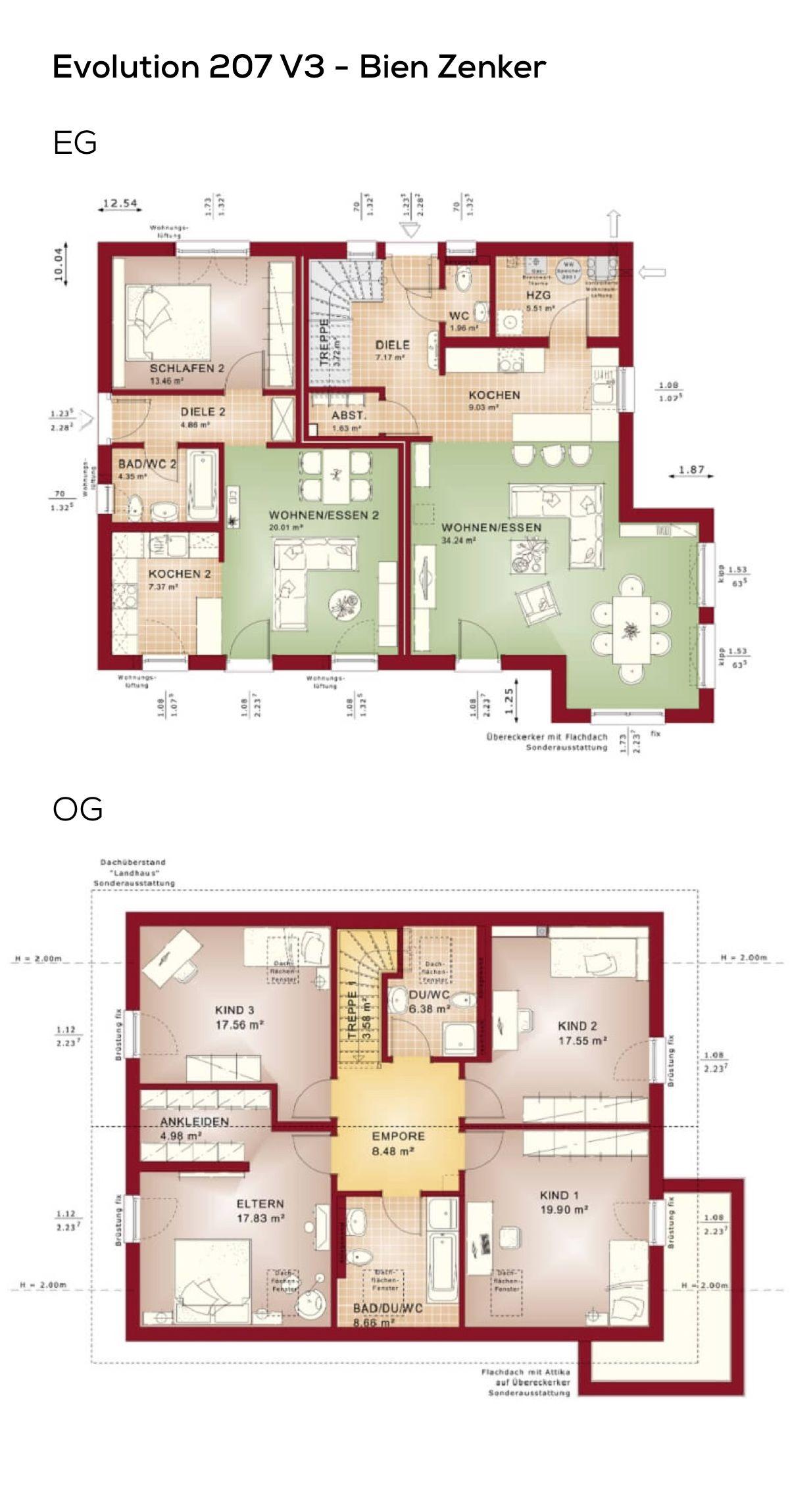 Grundriss Einfamilienhaus Mit Einliegerwohnung Zweifamilienhaus