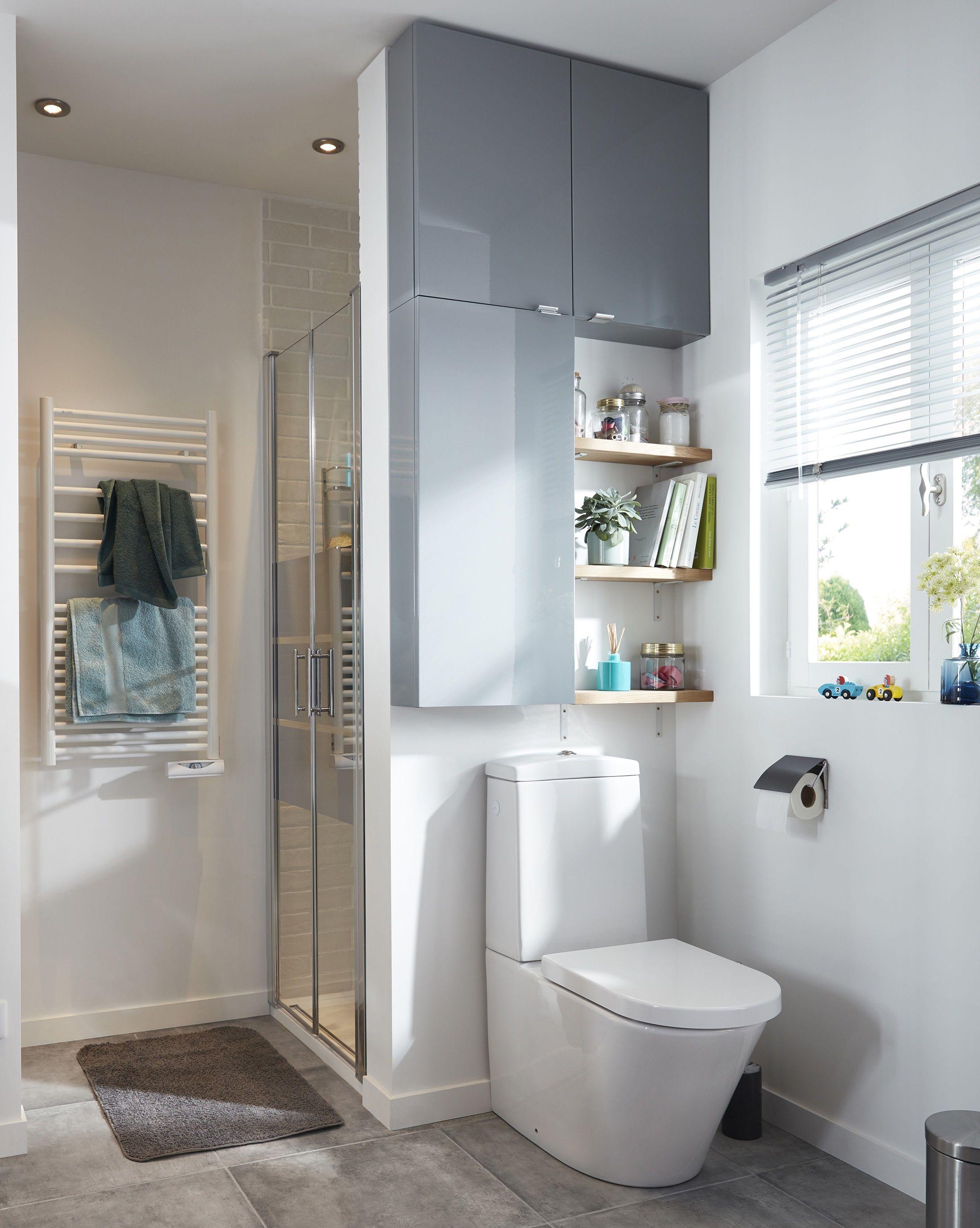 armoire de salle de bains gris cooke lewis imandra 40 cm meuble faible profondeur gain de. Black Bedroom Furniture Sets. Home Design Ideas