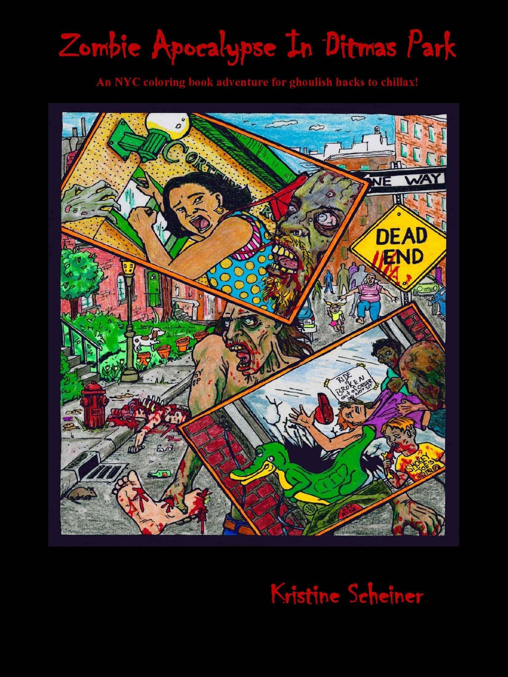 The zombie apocalypse coloring book - Zombie Apocalypse In Ditmas Park Coloring Book
