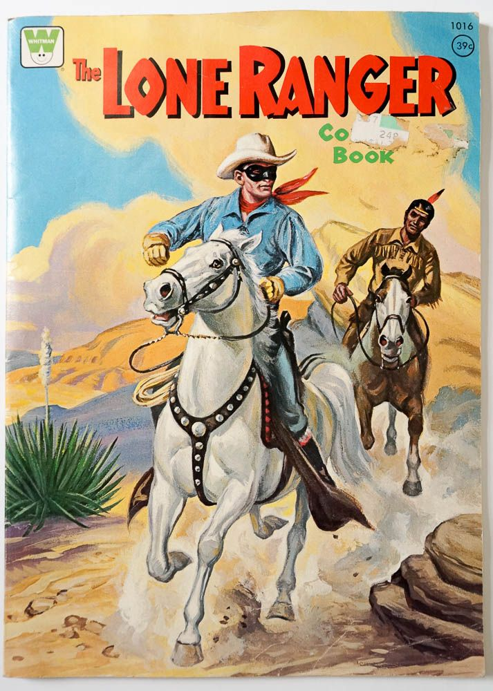 Vintage 1950s Coloring Book / Whitman The Lone Ranger Coloring Book 1951 UNCOLORED / Cowboy Indian Country Western Collectible