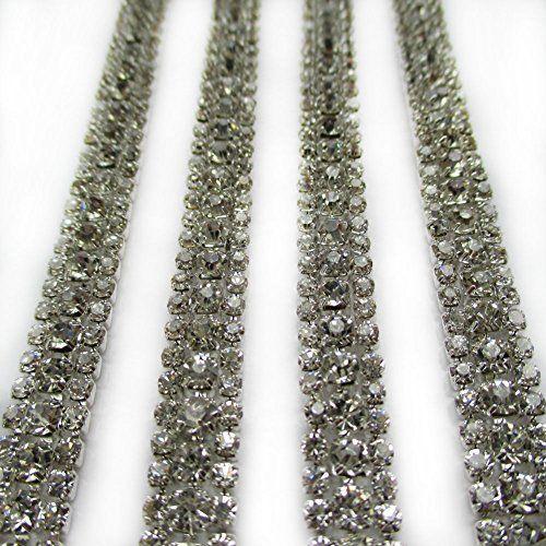 1 yard 8mm wide Silver Ctystal Mesh Wrap Roll Rhinestone Crystal Ribbon Blanket Lace Trim Wedding Decoration Trimscraft http://www.amazon.com/dp/B00PAIOTCM/ref=cm_sw_r_pi_dp_DBGLvb1BPWQ6Z