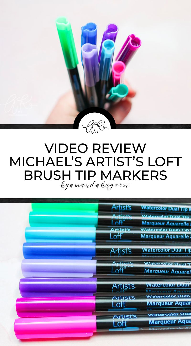Artists loft watercolor markers video review in 2020