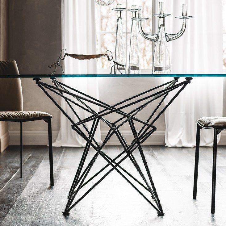 Rectangular Crystal Table GORDON By Giorgio Cattelan