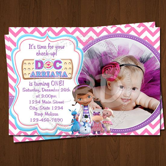 Pin By Abby Onkst On Nora S 5th Birthday: Doc Mcstuffins Invitations Doc Mcstuffins By