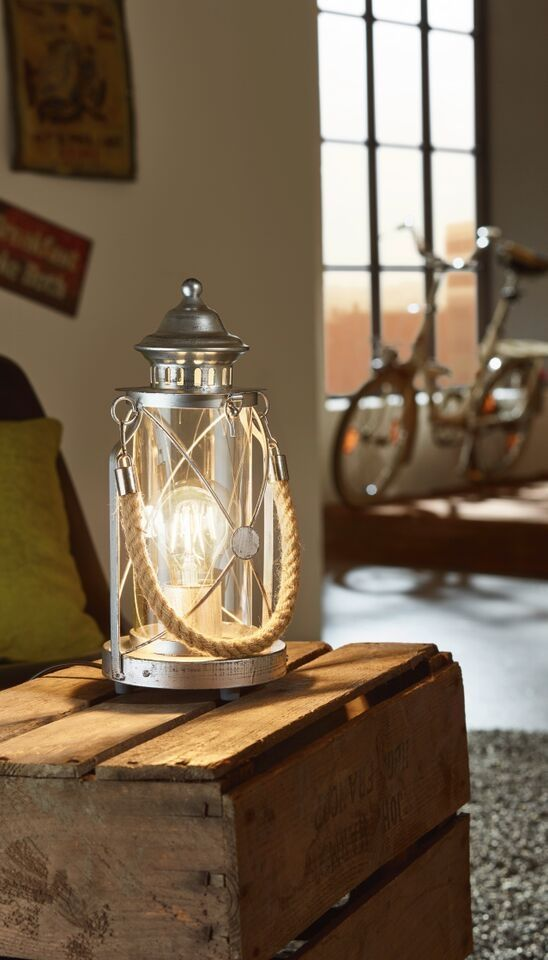 Fisherman Table Lantern With Rope Handle Antique Table Lamps Table Lanterns Table Lamp