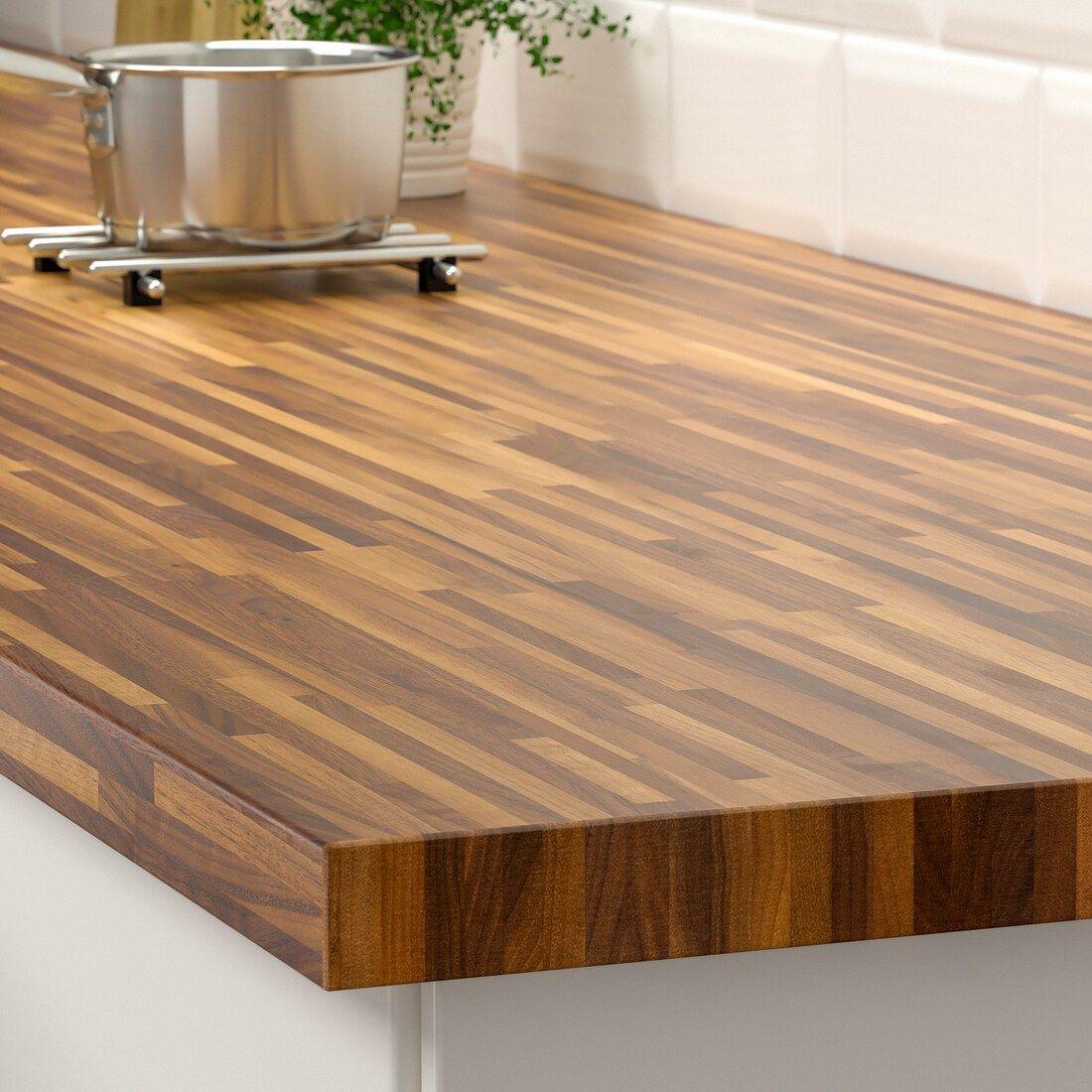 Pinnarp Countertop Walnut Veneer Ikea In 2020 Wooden