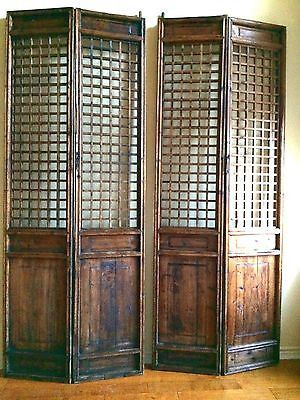 Antique Chinese Screen Panels 5376 Temple Door Cunninghamia Wood 1800 1849 Chinese Screen Panel Asian Interior Screened In Porch Furniture