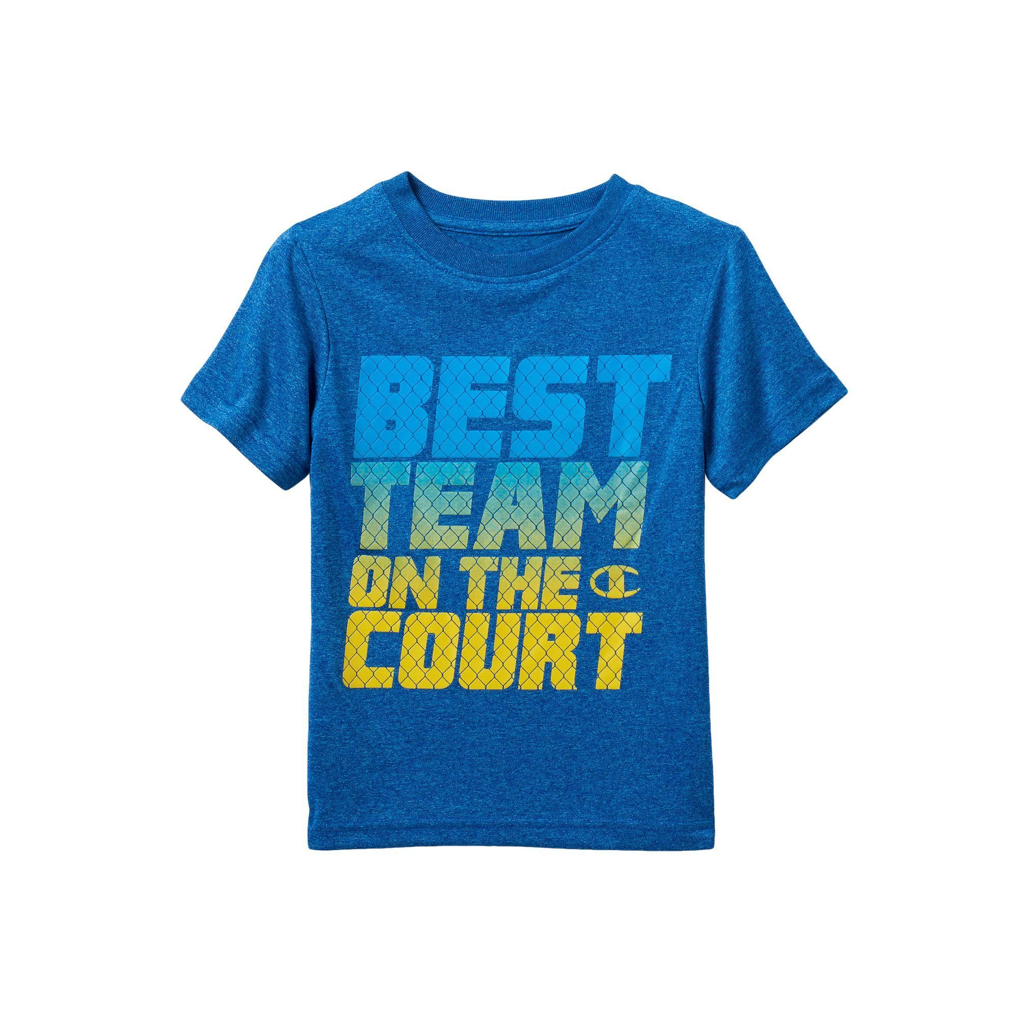 "Boys 4-7 Champion ""Best Team On The Court"" Performance Graphic Tee, Boy's, Size: 4, Blue Other"