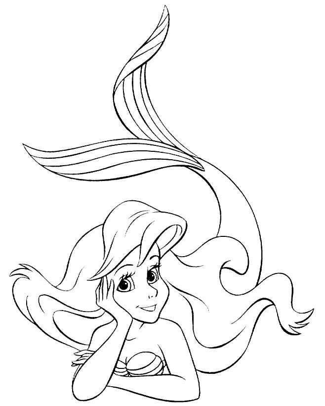 Kleurplaten Disney Ariel.Ariel Kleine Zeemeermin Kleurplaat Google Zoeken Rocks Ariel