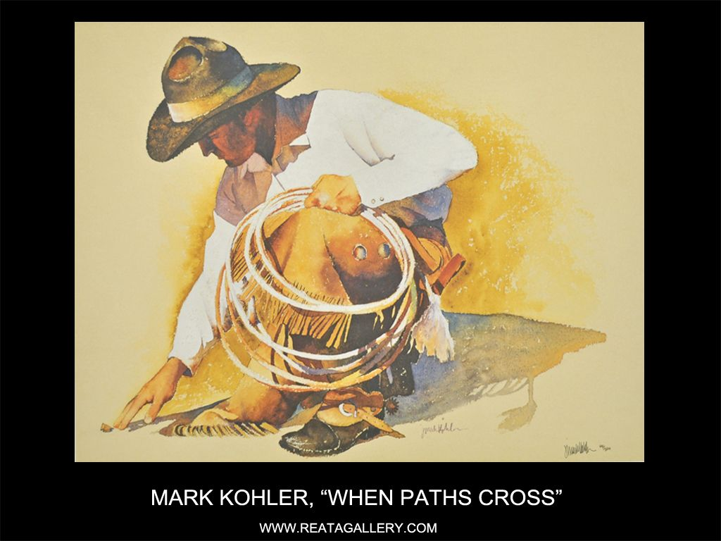 "Western Art by Mark Kohler, ""When Paths Cross"""