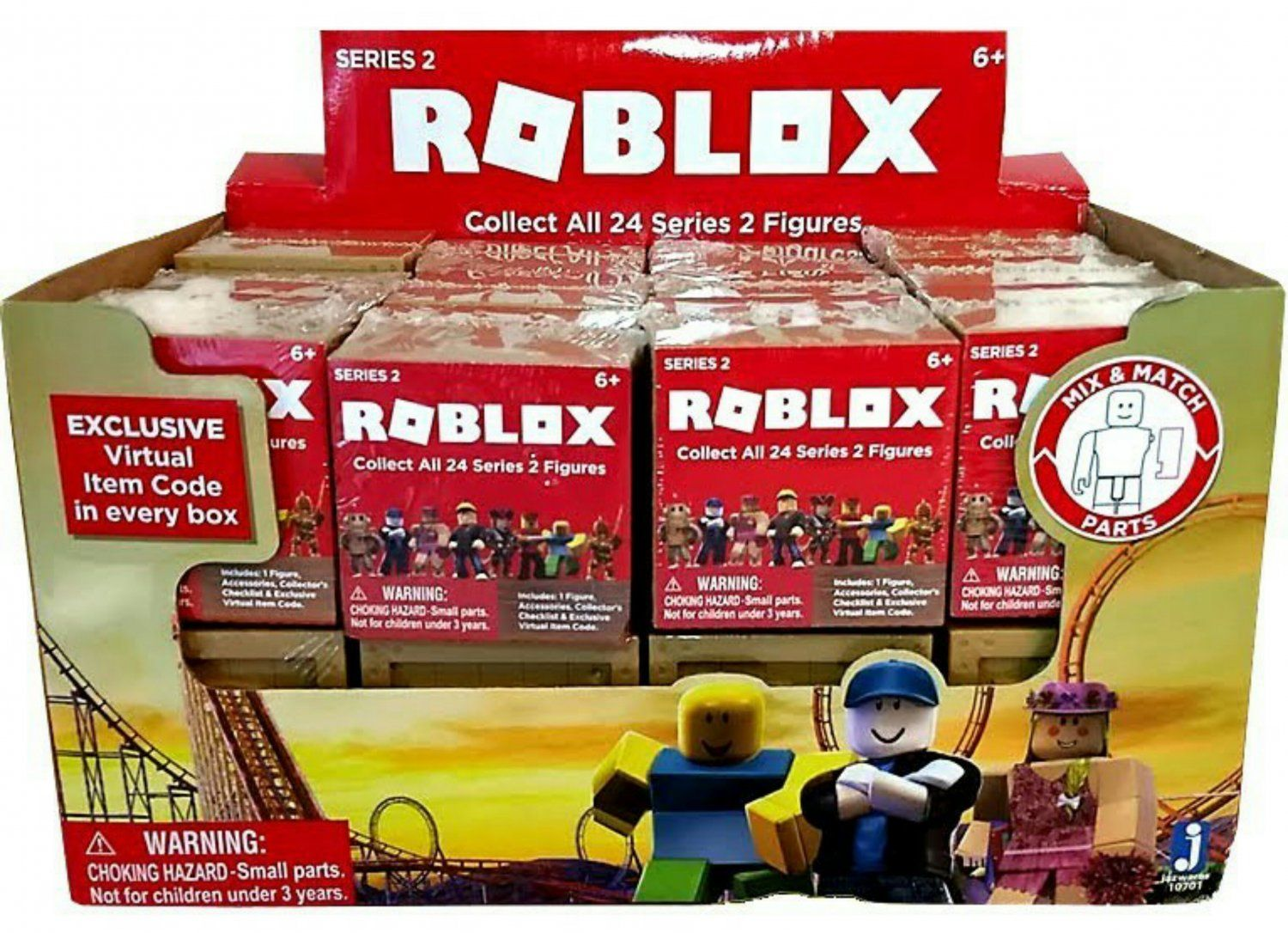 Roblox Mystery Action Figures Series 2 Blind Box Assortment Full Case Of 24 Sealed Cube Packs By Jazwares 10701 Onlin Roblox Action Figures Best Kids Toys