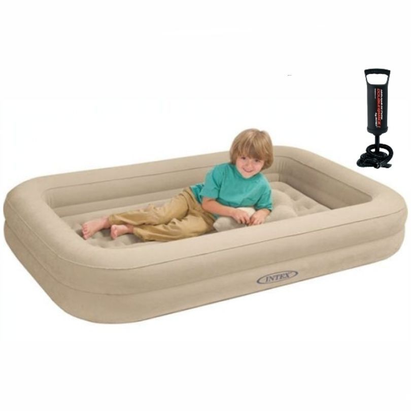 Kids Travel Cot Bed Inflatable Baby Child Toddler Air Beds Sleepover Mattress Intex Kids Travel Bed Toddler Travel Bed Portable Toddler Bed