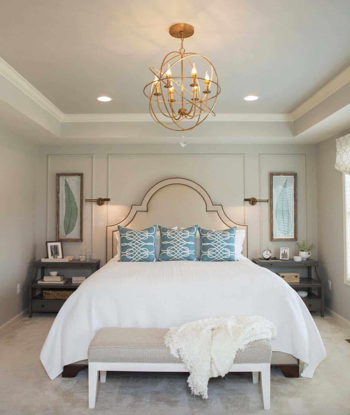 20 Serene And Elegant Master Bedroom Decorating Ideas Elegant Master Bedroom Master Bedrooms Decor Master Bedroom Remodel
