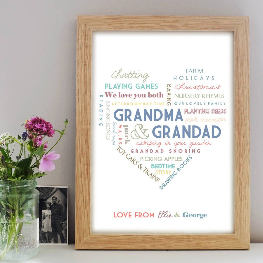 Personalised grandparent print grandparents craft gifts and are you interested in our gift for grandparents with our personalised print you need look no further negle Choice Image
