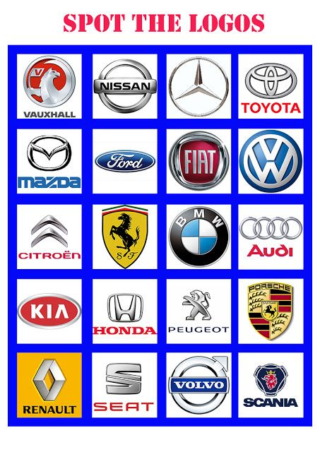 a simple spot the logos game to be played in the car great