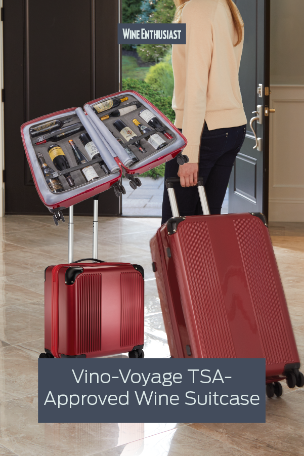 Vino Voyage 2 0 Tsa Approved 12 Bottle Wine Suitcase With Integrated Weight Scale In 2020 Wine Barrel Furniture Barrel Furniture Bottle Sizes