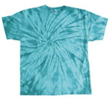 tie dye Youth Spider Tie-Dyed Cotton Tee - Turquoise Spider (L)