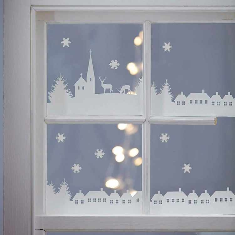 fensterbilder weihnachten stadt schoen originell weihnachten pinterest. Black Bedroom Furniture Sets. Home Design Ideas