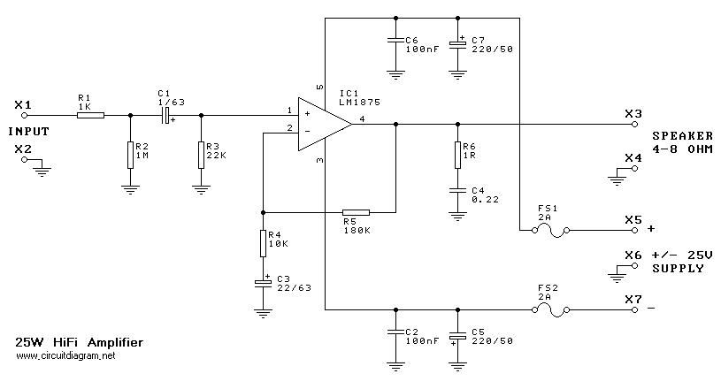 electronic circuit | power amplifier schamatic | Pinterest ...