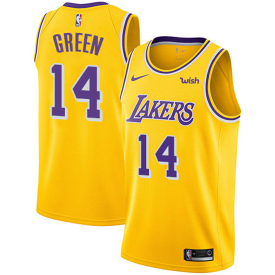 2020 Nike Lakers 14 Danny Green Gold Nba Swingman Icon Edition Jersey In 2020 Los Angeles Lakers Basketball Los Angeles Lakers Lebron James