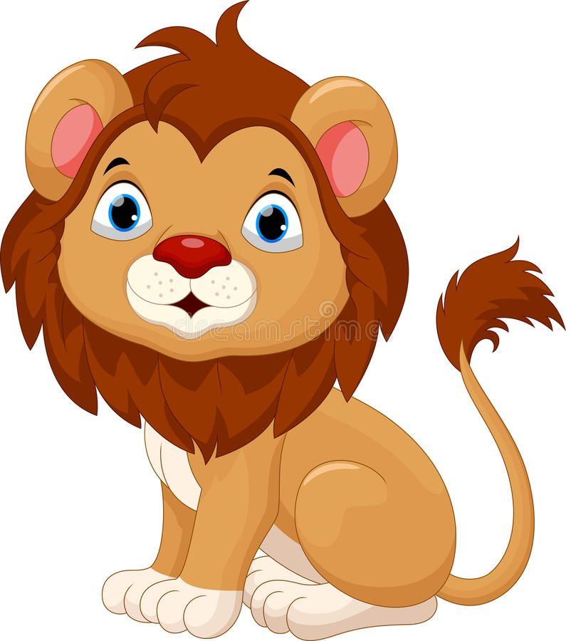Download Cute Baby Lion Cartoon Sitting Stock Illustration Image 66170680 Cartoon Lion Lion Illustration Baby Lion