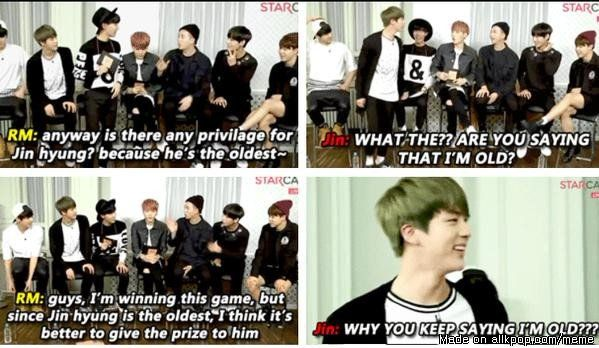 be4080e63eb31b941e597ee6b329e7fd namjin \u003c3 allkpop meme center aww, just say he is special for