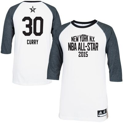 b68b00a609d2 Mens Western Conference Stephen Curry adidas White 2015 NBA All-Star Game  Shooting T-Shirt