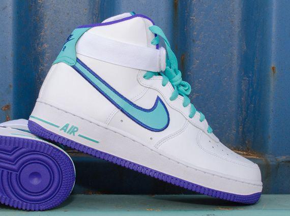 huge discount 12a22 6097f Nike Air Force 1 High White Dark Concord Hyper Jade