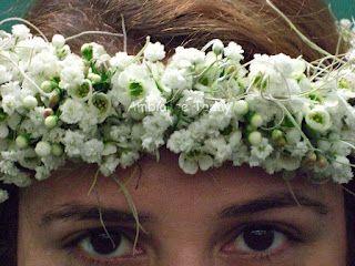 gypsophila wax flower and pele s hair spanish moss in a haku by