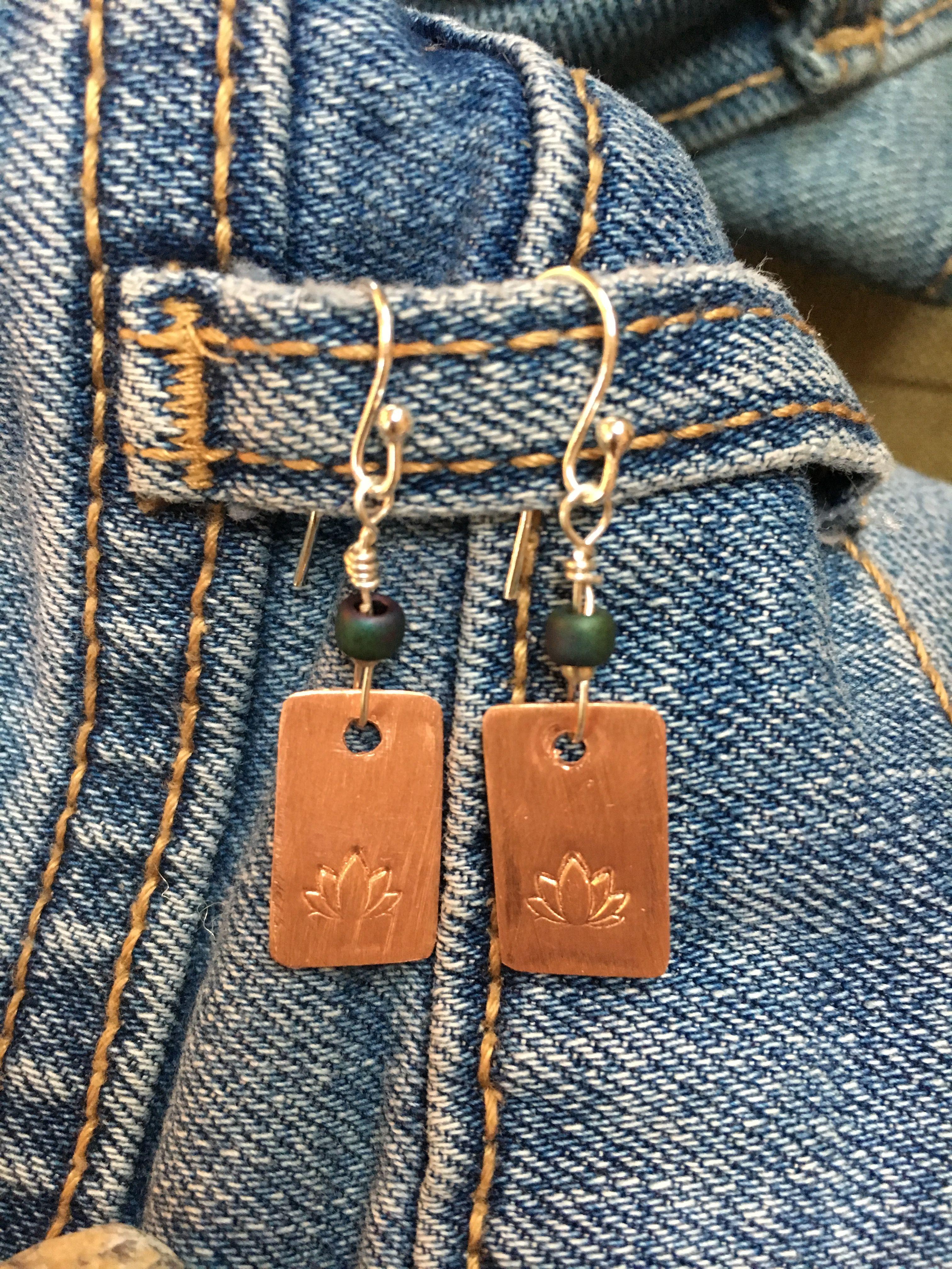 Lil Lotus earrings | Stonedbythesea | Earrings, Lotus, Chain