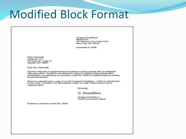 Collection of Solutions Modified Block Style Business Letter