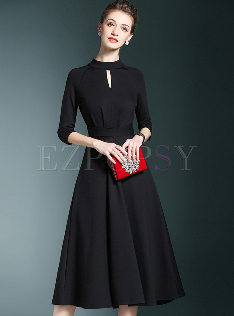 17+ A line dress with sleeves information