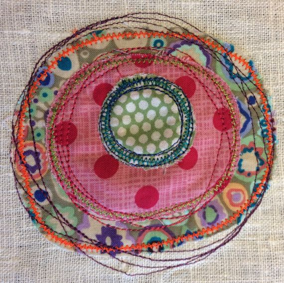 Applique Circles Doodle Art Application Zigzag And Running Awesome Hand Stitch Look Sewing Machine