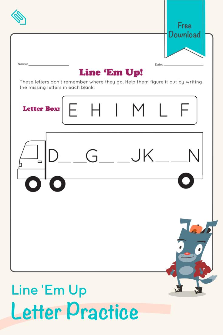 Line Em Up Worksheet Education Com Preschool Reading Teaching Child To Read Preschool Math Worksheets [ 1102 x 735 Pixel ]