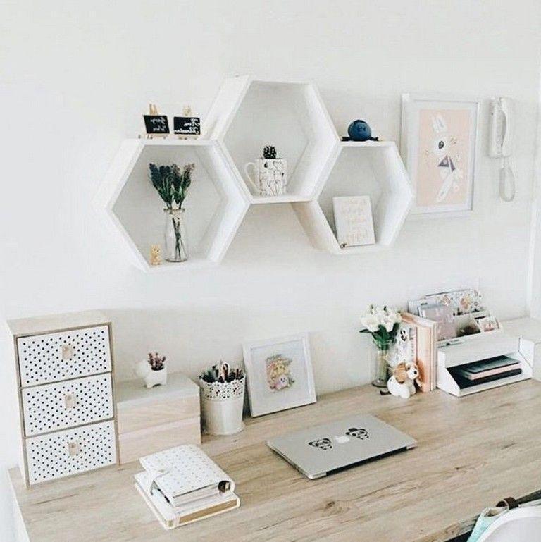 48 Elegant Office Decor Ideas For Small Apartment Officedecor Officedesign Smallapartmentdecora Minimalist Apartment Decor Modern Apartment Decor Room Decor
