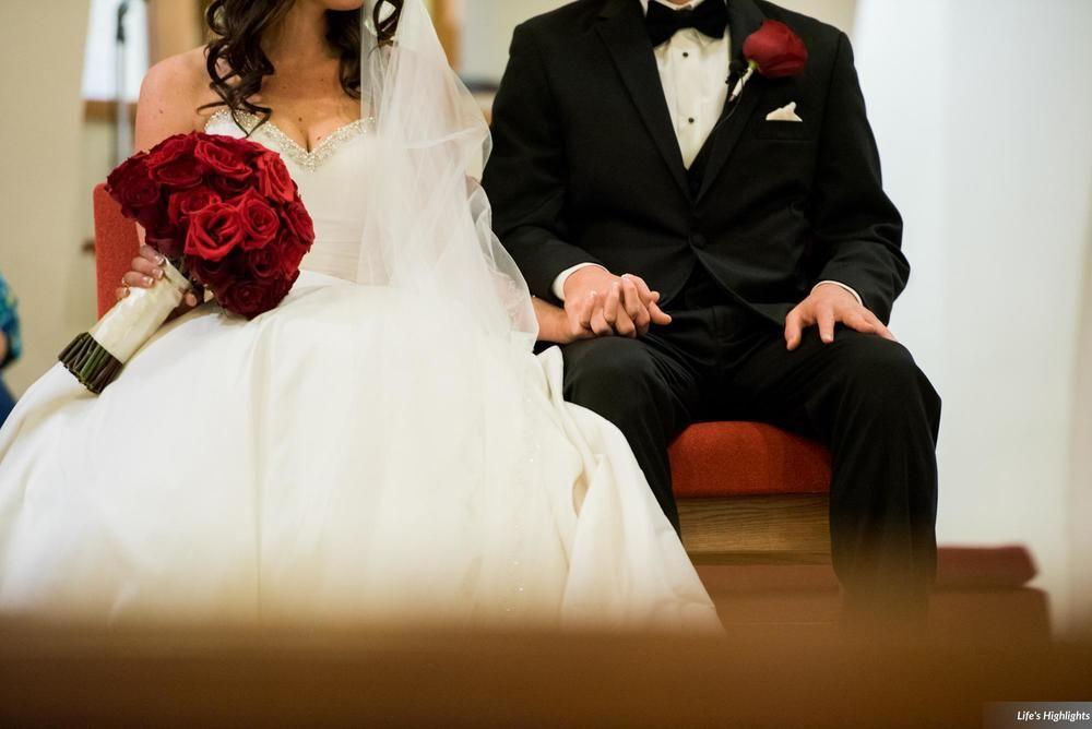 Erin & Nick | Wedding in Tampa Bay | Red rose bouquet.  #andrealaynefloraldesign #tampaweddings