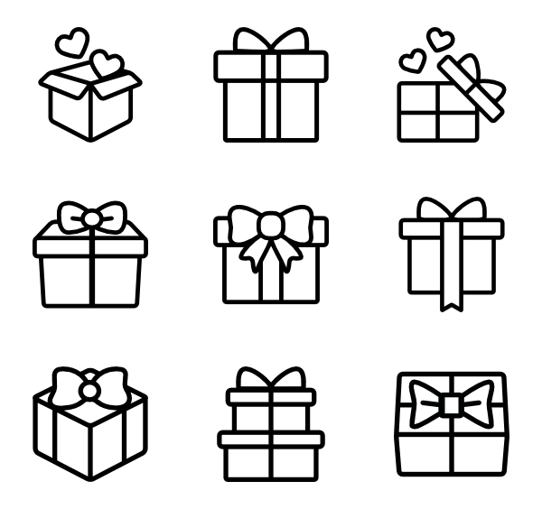 4 019 Free Vector Icons Of Gift Box Box Icon Gift Logo Icon