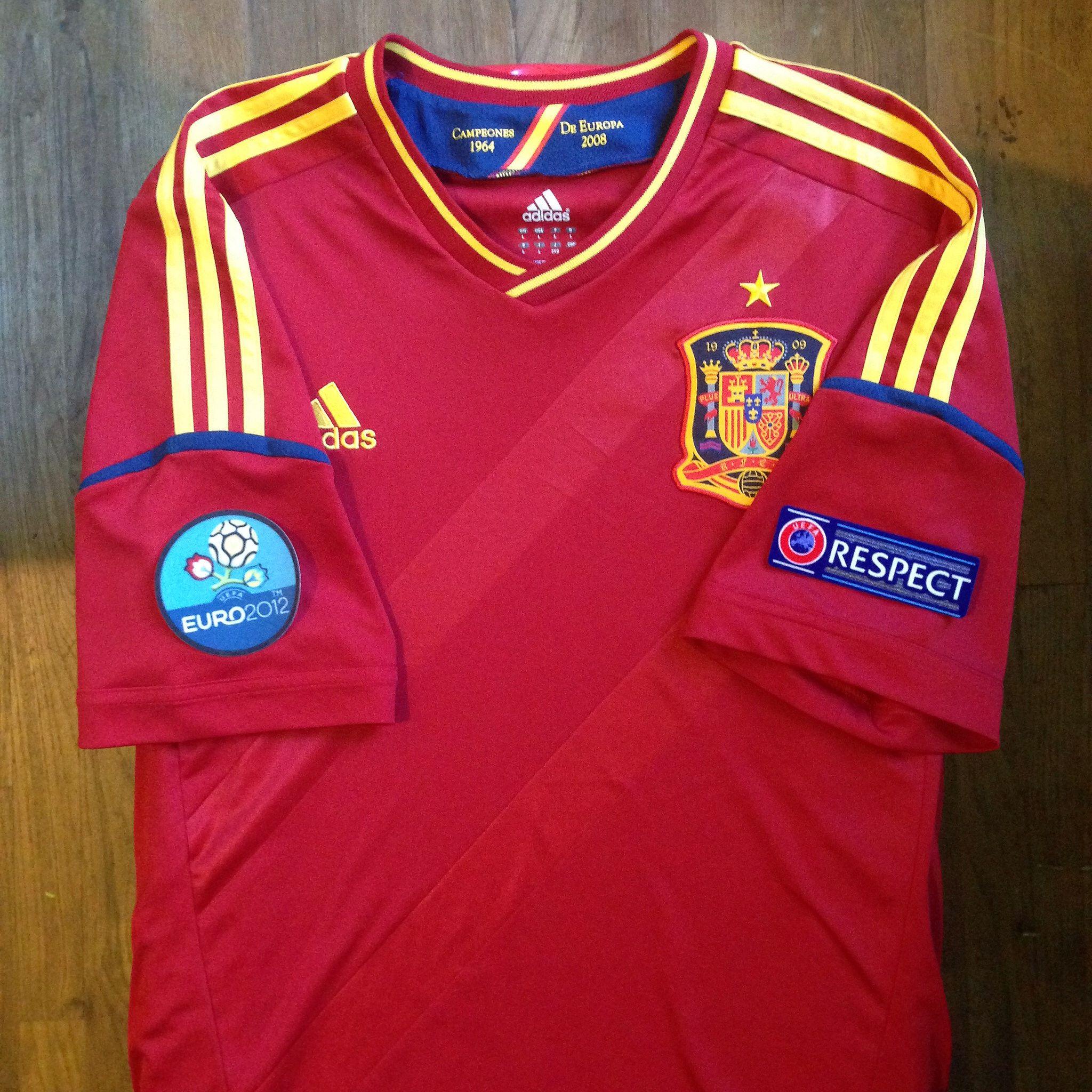 36bbebe4aeaa UEFA Euro 2012 Poland-Ukraine Spain Home Jersey    Primera Equipación de la  Selección